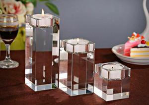 Lumière Bougies Hot Cristal Centerpieces Cylindre Vases 1pc / 1set Porte de mariage