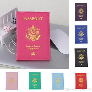 لطيف الولايات المتحدة الأمريكية غطاء جواز سفر المرأة الوردي حامل جواز السفر يغطي الأمريكية لجواز السفر الفتيات حالة الحقيبة باسبورت DLH105