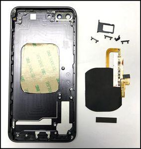 Para la puerta de batería de vidrio estilo iPhone 8 con recorte construido en el cargador inalámbrico Receptor Flex para iPhone 6G 6P 6S 6SP 7G 7Plus