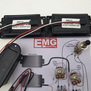 EMG 81/85 pickup attivo chitarra elettrica Humbucker Pickups Con 25K potenziometro montaggio Accessori + Diagramma d'installazione