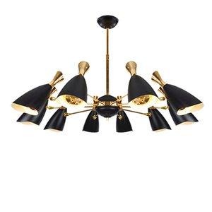 Modern designer creativo minimalista arte lampadario illuminazione soggiorno decorazione villa ristorante hotel Rotate lampada a sospensione 90-265 V AC