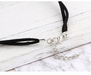 Women's bullet necklace retro crystal natural stone quartz necklace pendant collar black rope chain jewelry jewelry