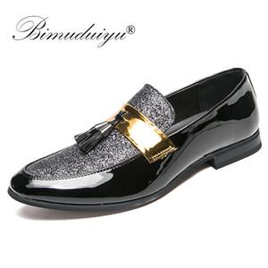BIMUDUIYU Italian Tassel Business Men Loafers Shoes Leather Elegant Formal Dress Flats Oxford Shoes Designer Office Footwear