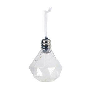 Christmas Tree Ornaments Light Bulb PET Special-shaped Ball Pendants Xmas Decor 72XF