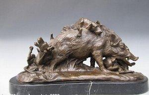 Shitou 003.273 9 West Kunst Wildschwein Schwein Reine Bronze Kupfer Statue Nouveau Tier Figur Statue Rabatt 30% (C0324)