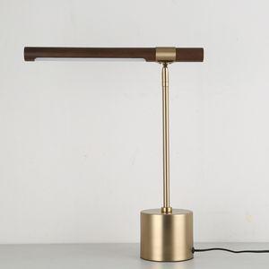 Lampada da tavolo in legno di design Lampada da tavolo hotel nordica semplice da comodino da camera da letto 90-264V