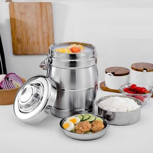LUNCH BOX UTENSIL Stainless steel Insulated lunchbox large capacity 3 layers Bento Box Heat Preservation Pot