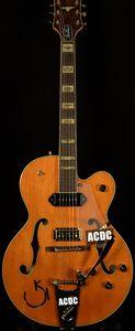 GRE G6120DSW Vintage-Select Edition 1962 Chet Atkins Country Gentleman orange Hollow Body JAZZ elektrische Gitarren-Gold-Pickugard Bigs Brücke