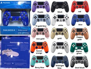 PS4-Controller Wireless Controller SHOCK 4 Gamepad für PS4 Vibration Joystick Game-Controller für Sony Play Station mit Kleinkasten