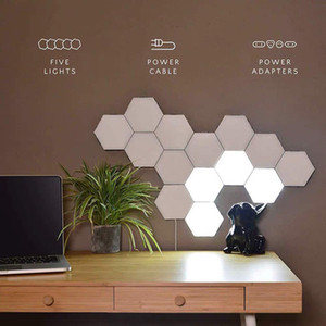 Hexagonal Wall Light Modular Touch Sensitive Lights Creative Geometry Assembly LED Night Light Suitable for Bedrooms, DIY Lovers, Gifts