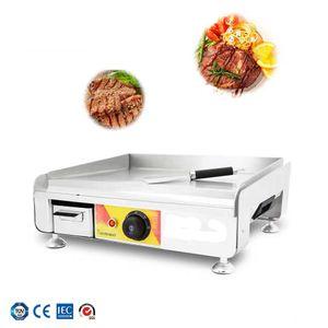Máquina de fazer panqueca elétrica comercial griddle rápido aquecimento espessamento teppanyaki equipamentos chapa de aço inoxidável chapa elétrica