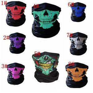 Открытый бесшовный волшебный череп шарф маска для лица шарф Велоспорт верховая езда маски теплый шейный платок открытый лицевой партии маски IB634