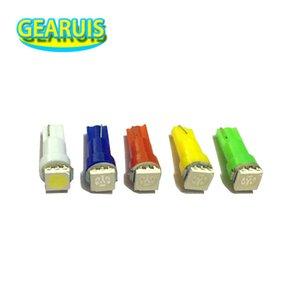 200pcs Éclairage intérieur de voitures LED T5 SMD 1 Tableau de bord Wedge Auto LED ampoule lampe Rouge Bleu Vert Blanc 24V 1SMD Instrument