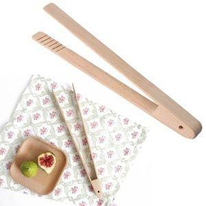 Cımbız Ekmek Pasta Kelepçe Klip Pişirme Bambu Ahşap Ahşap Yemek Tost Mutfak Maşa Kaplar Tost Bacon Çay Tong Salata Ana
