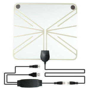 Transparent Style Amplified HDTV Antenna 50-100 Miles Range Digital Indoor TV 1080P HD Antenna Signal Booster