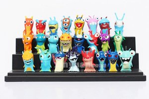 Wholesale-24 Pieces   set Slugterra Toys Slug Terra Action Figures Anime Dolls Gift for Children