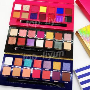 Melhor Maquiagem Eyeshadow 14 cores Paleta de Sombra com escova Riviera Aina Alyssa Eyeshadow Shimmer Matte brilhante beleza colinas sombra de olho