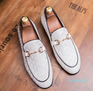 NEW mens shoes mens loafers stylist metal button coloursmens designer shoes men luxury loafers 38-45 l03
