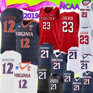 Новая Вирджиния Cavaliers 12 De'Andre Hunter Jersey 23 Jarrett Culver Texas Tech Gonzaga Бульдоги 21 Rui Hachimura Баскетбол -