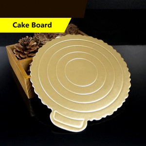 Mousse Cake Boards Paper Cupcake Dessert Displays Tray Gold Cake Board Paper Base Pastry Baking Mat Cake Decorations Tool