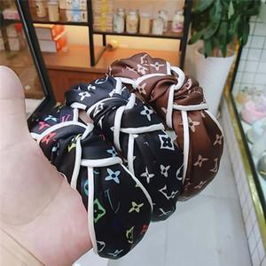 خمر العصابة زهرة معقود فرقة الشعر للمرأة الأزياء INS بنات الكورية إكسسوارات الشعر الجنية بسيط مخطط الشعر Hairband KFJ724