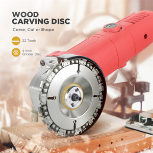Round Shape Durable Use Woodworking Grinder Disc Fine Chain Saw Grinding Chain Wheel Wood Carving Disc for Angle Grinder Sale(Random Color)