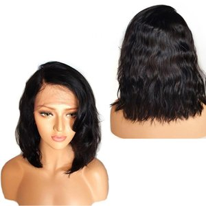 Wavy Lace Front Bob Wigs Short Full Lace Wig with Baby Hair Side Part Glueless Lace Front Wig for Women