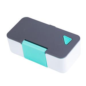 Taşınabilir yemek kutusu Telefon Tutucu Mikrodalga Fırın Lunch Box Lunch Box Kare Gıda Konteyner Plastik