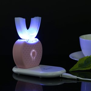 Spazzolino elettrico automatico USB 360 gradi vibrazione ad ultrasuoni spazzolino elettrico denti che imbiancano strumento di bellezza