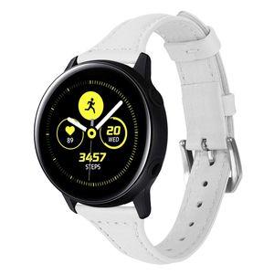 Huawei Huami 시계 팔찌 93005를위한 Samsung Galaxy 활동적인 진짜 가죽 악대 strap를위한 20mm 가죽 시계 줄