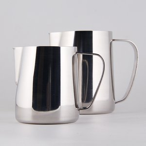 Caneca do leite Cup Flower jarro de leite 350ml 600ml de aço inoxidável Frothing Pitcher Pull Coffee Frother Latte Art Leite Espuma Ferramenta Coffeware