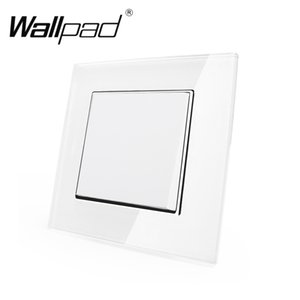 Pençeleri T200605 ile 1 Gang 2 Yollu AB Kanca Anahtarı Wallpad 110-250V Beyaz Kristal Cam Schuko Avrupa Standart Çift Kontrol Anahtarı