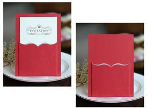 Marry Invitation Card doppia piega saluto accessori per la visita creativi di nozze Decorare di carta di timbratura di oro perla luce colorata 1 28mhC1