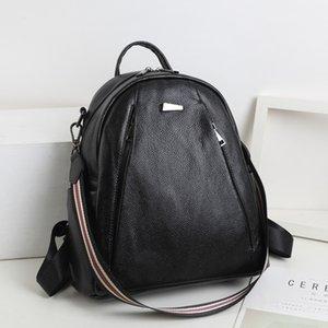 Magical2019 Zaino donna Xia Xiuxian Ins Ragazza Una borsa Confezione originale su entrambe le spalle in vera pelle