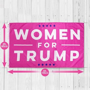 2020 90x150cm Woman for Trump Letter Design Flag Women Banner United States Presidential Election Bunting Trump Flag Portable Banner Party
