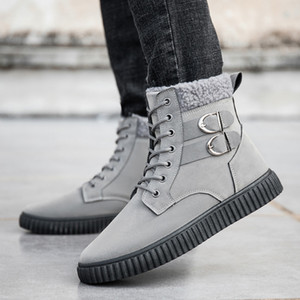 Winter Snow Boots for Man Comfortable Soft Flock Flats Shoes Men Winter Warm High Top Ankle Boots Male Outdoor Non Slip Booties