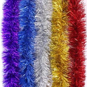 Рождественская мишура гирлянда Рождественская елка украшения классическая блестящая блестящая вечеринка мягкая мишурная елочная елка потолок висит украшения