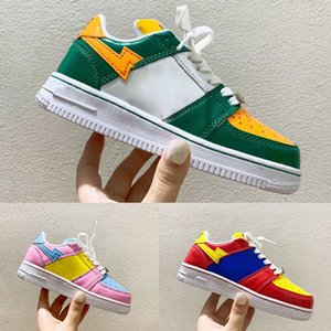 Childrens Concepts Deliver Exclusive Baped Stas X Aforce 1 Footwear One Trainers Kids Sport Shoes Boy Girls 1 Sneakers