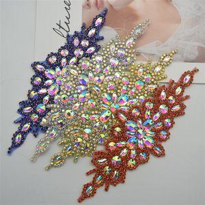 düğün Gelin Giydirme Kemer Motif için kırpma moda rengi diker Demir On Boncuklu elmas taklidi aplike