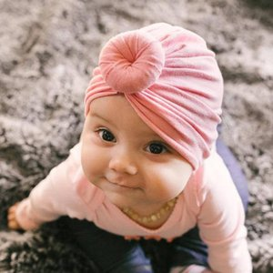 Orelhas headband Bebés Meninas Crochet Top Knot Elastic Turban Hairband Baby Girl Turban suave do envoltório Warmer Headwear Dropshipping