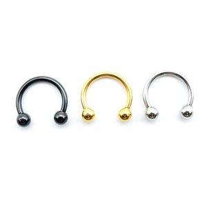 Más recientes anillos de la nariz de acero inoxidable QQ joyería piercing del cuerpo regalo de la joyería falso anillo de la nariz para las mujeres