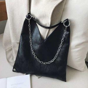 ACELURE Урожай черный Кожа PU Сумка для женщин Металлические цепи большой емкости леди Crossbody сумка Tote Большой сумка