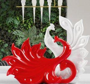 크리 에이 티브 홈 보석 장식품 결혼 선물 와인 캐비닛 장식 거실 침실 공작 열려 도자기 공예품
