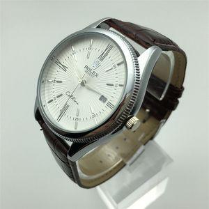 Marka Lüks Ünlü Erkekler Spor Saatleri İş Erkekler İzle Erkek Saat Moda Kuvars Deri İzle Relogio Masculino reloj hombre Montre