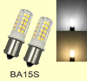 10 Paket, 1156 1141 S8 LED Ampul 64-2835 SMD Lambası beyaz / sıcak beyaz Seramik Işık AC DC 12V / AC 110V / AC 220V BA15s
