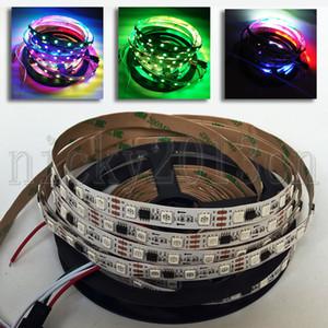 12V WS2811 5050 cinta RGB LED Pixel luz de tira flexible de 5M 300LEDs direccionable sueño Color Magic Cambio no impermeable cubierta 60LEDs / m