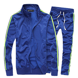 Casual aptidão Treino Homens Sportswear Define Moda 2019 Mens Primavera Roupa 2 PC camisola + moletom Outwear Faixa Suit Men
