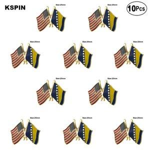 U.S.A. Bosnie épinglette drapeau Broche badge Pins Badges 10pcs Lot
