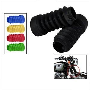 tas Couvre Ornamental Mouldings 2 pièces protection de fourche moto Front Cover guêtres Boot Shock Absorber Garde poussière pour Honda Yamaha Mo ...