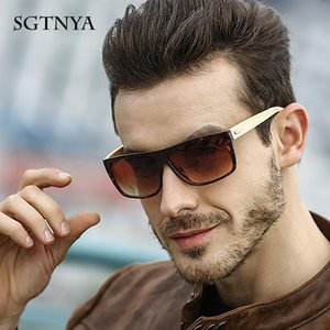 Sgtnya Europe And The United States New Fashion Sunglasses Men'S Classic Trend Sunglasses Bamboo Legs Glasses Uv400 veeRD